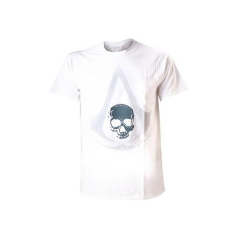 BIOWORLD Assassin's Creed IV - White Symbol Crest (T-Shirt Unisex Tg. XL)