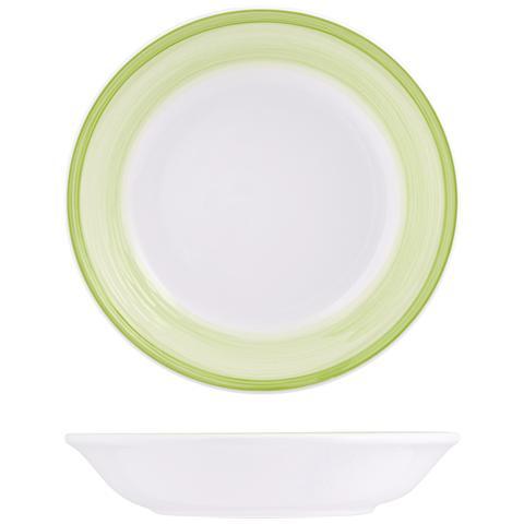 H&H Piatto Ceramica Capri Verde Fondo Cm21 Stoviglie