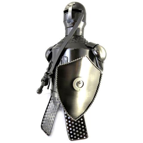 Les Trésors De Lily portabottiglie 'sculpture métal' cavaliere - [ m3802]