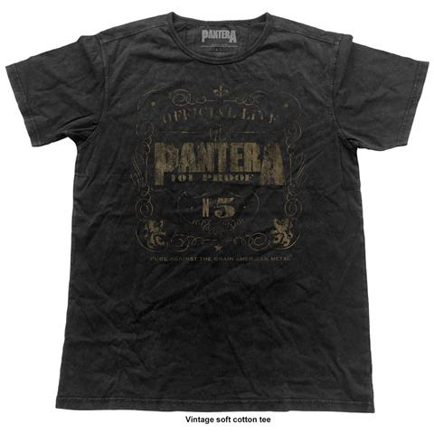 ROCK OFF Pantera - 101% Proof (Vintage Finish) (T-Shirt Unisex Tg. L)