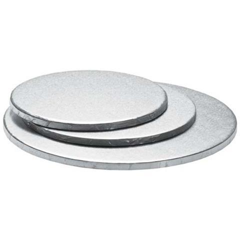 Decora Sottotorta tondo argento 34 h. 1,2cm