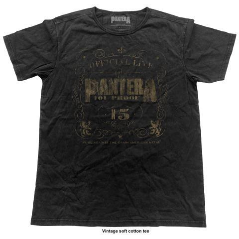 ROCK OFF Pantera - 101% Proof (Vintage Finish) (T-Shirt Unisex Tg. M)