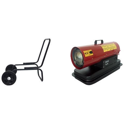 Dh1 20conruote Rosso Generatore Di Aria Calda Con Ruote
