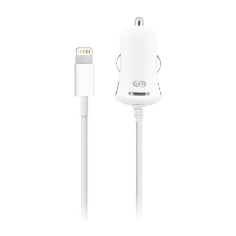 FONEX Alimentatore da Auto Mini 1A per Apple Lightning Colore Bianco