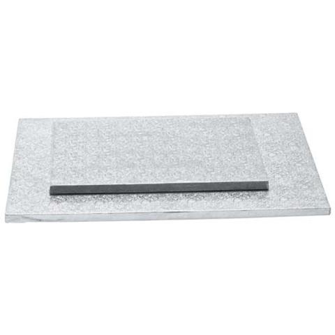 Decora Sottotorta rettangolare argento 30 x 40 h. 1,2cm