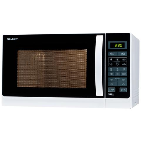 R742WW Forno a Microonde con Grill al Quarzo Capacità 25 Litri Potenza 900 Watt Colore Bianco