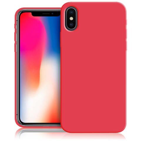 FONEX Red Cover Anti Urto 0,6 mm di Spessore in Morbido TPU per Apple iPhone X Colore Rosso Fluo
