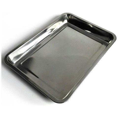 Vassoio Guantiera In Acciaio Inox Rettangolare Portata Cucina Misure 36x27x4,8cm