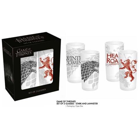 Game Of Thrones - Stark And Lan (set 2 Bicchieri)