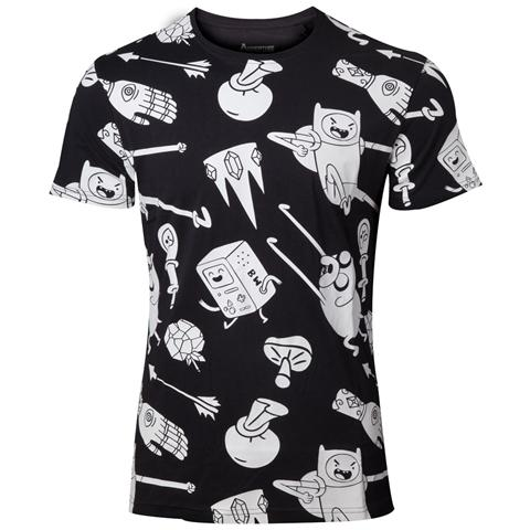 BIOWORLD Adventure Time - All Characters Nappy White (T-Shirt Donna Tg. XL)