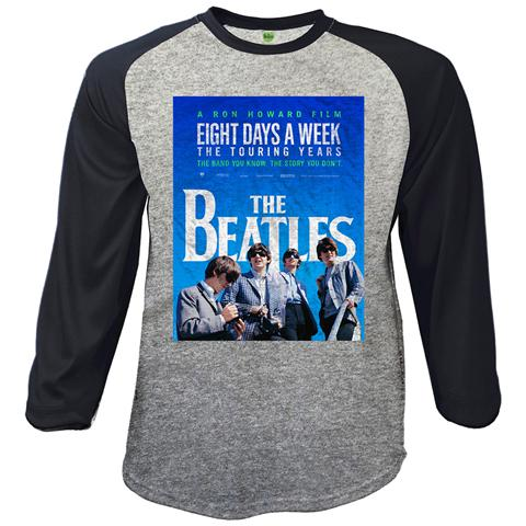ROCK OFF Beatles (The) - Baseball 8 Days A Week Movie Poster (Maglia Manica Lunga Unisex Tg. S)