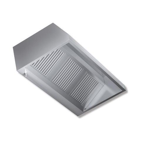 Cappa 280x90x45 Acciaio Inox Parete Motore Cucina Ristorante Rs7306