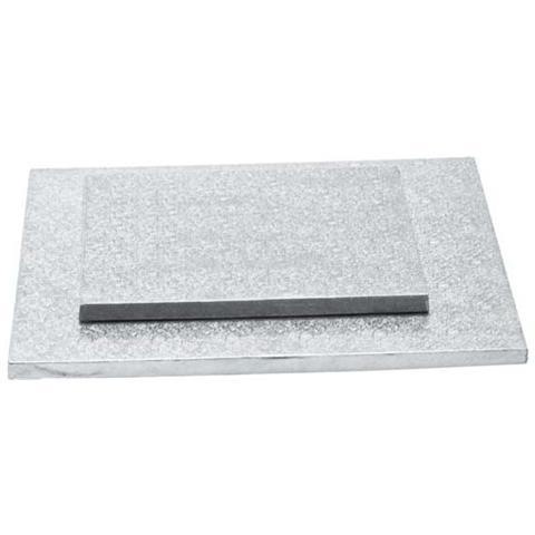 Decora Sottotorta quadrato argento 25 h. 1,2cm