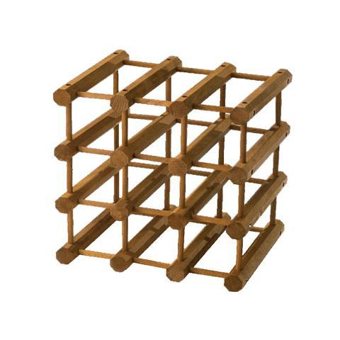 HOMEGARDEN Cantinetta modulare portabottiglie in legno di faggio 12 posti