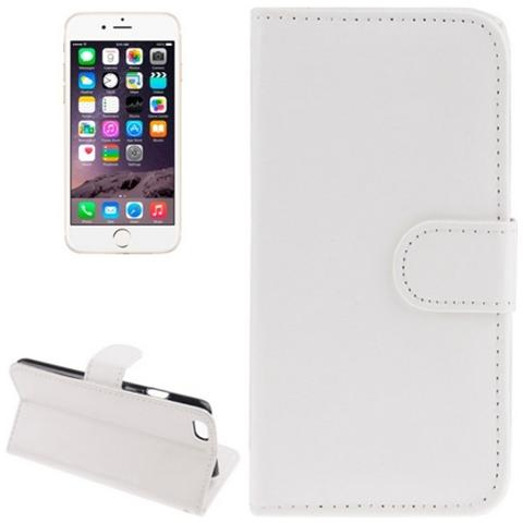 Network Shop Custodia Sheepskin Texture Flip Leather Case Con Stand Per Iphone 6 Plus Bianco