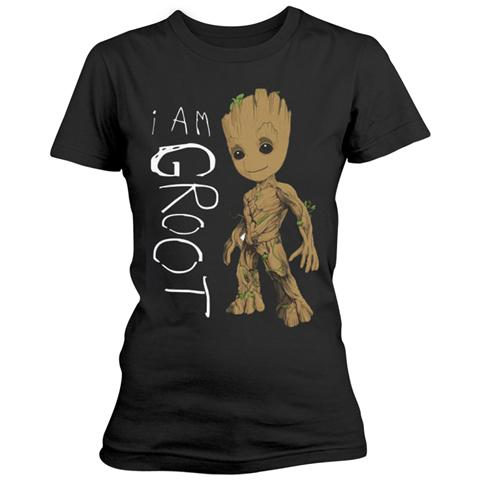 PHM Marvel Guardians Of The Galaxy Vol 2 - I Am Groot Scribbles (T-Shirt Donna Tg. XL)