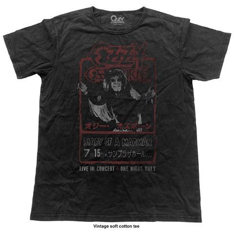 ROCK OFF Ozzy Osbourne - Japan Flyer (Vintage Finish) (T-Shirt Unisex Tg. S)