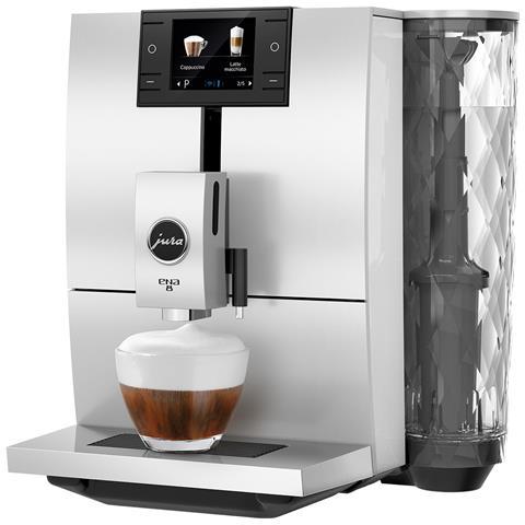 """Ena8 Macchina Del Caffè Espresso Automatica 10 Funzioni Display Tft 2,8"""""""" Nordicwhite"""
