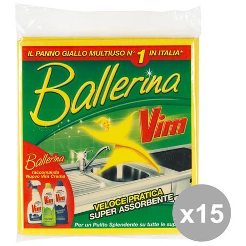 GNP Set 15 Ballerina Panno Multiuso X 3 Pezzi Attrezzi Pulizie