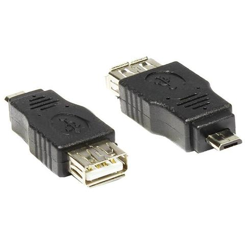 ALCASA USB-AD37, USB Micro-B, USB A, Maschio / femmina, Nero