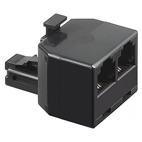 INTELLINET IWP-ADAP-13/40BK 6P4C M 2x 6P4C F Nero cavo di interfaccia e adattatore