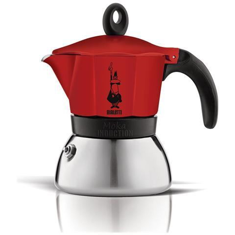 Caffettiera Moka 3 Tazze Rosso - Modello Induction