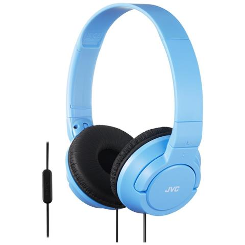 JVC Cuffie con Telecomando e Microfono HA-SR185-AN colore Blu