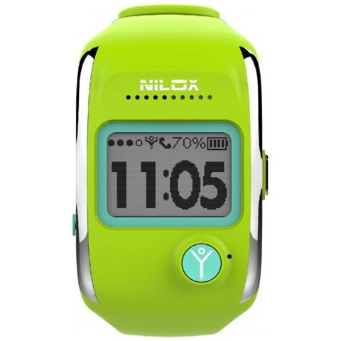 NILOX Smartwatch Bodyguard Notifiche Chiamate e Antifurto con Localizzatore GPS per Android e iOS Colore Verde Lime - Europa