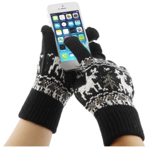 Network Shop Guanti Touch Screen Per Smartphone E Tablet Nero Renne