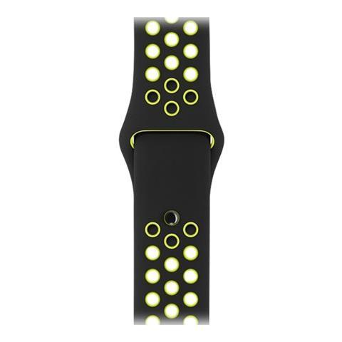 APPLE Cinturino Nike Sport nero / Volt (42 mm) - S / M e M / L