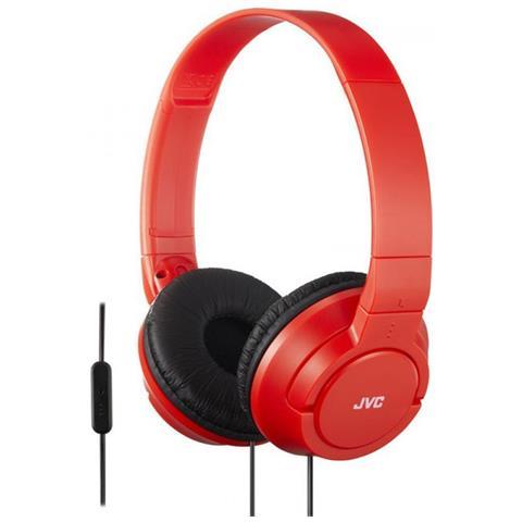 JVC Cuffie con Telecomando e Microfono HA-SR185-RN colore Rosso