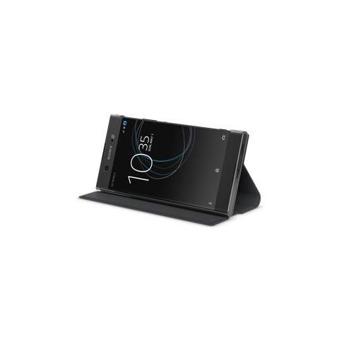 SONY Flip Cover Custodia per Xperia XA1 Ultra in Pelle Colore Nero