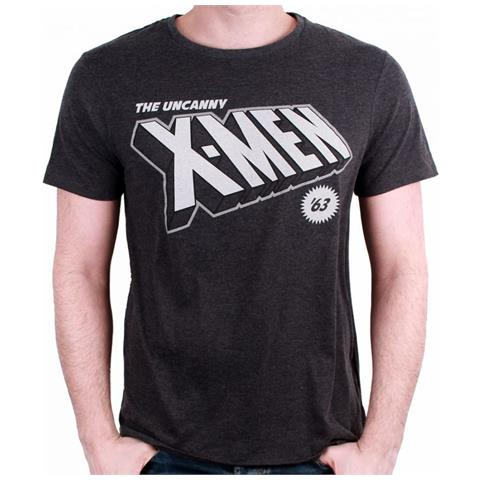 TimeCity X-Men - 63 Logo Dark Heather (T-Shirt Unisex Tg. L)