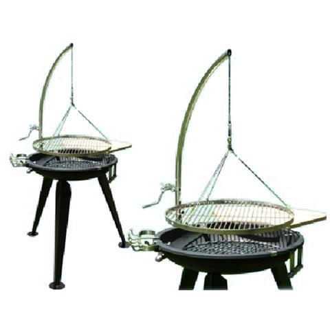 Barbecue a carbone o legna con struttura in acciaio e inox L112xP92xHmax153