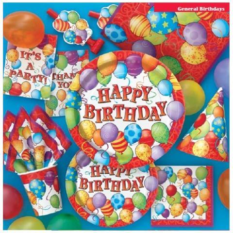 Ballon Express Unique Tovaglioli Happy Birthday Con Palloncini