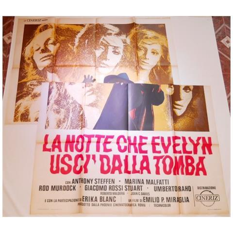 Vendilosubito Manifesto 4f Originale Del Film La Notte Che Evelin Usci Dalla Tomba 1971