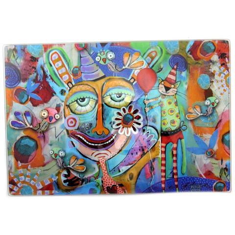 Tagliere / Sottopentola 'allen Designs' Party Clown - 30x20 Cm - [ p5653]