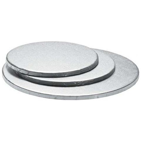 Decora Sottotorta tondo argento 60 h. 1,2cm