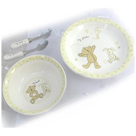 set bambini pasto 'teddy' beige - [ n2621]