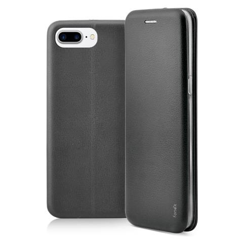 FONEX Flip Cover Custodia a Libro per iPhone 7 Plus colore Nero