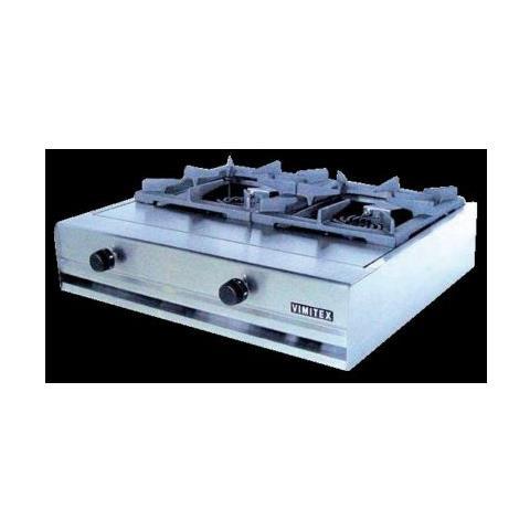Fornellone A Gas Professionale 2 Fuochi Cm 70x62x20 Rs0880