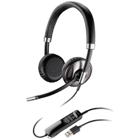 Image of Cuffia Biaurale con Microfono Nero Filo 100 - 8000 Hz 85 dB 87506-02