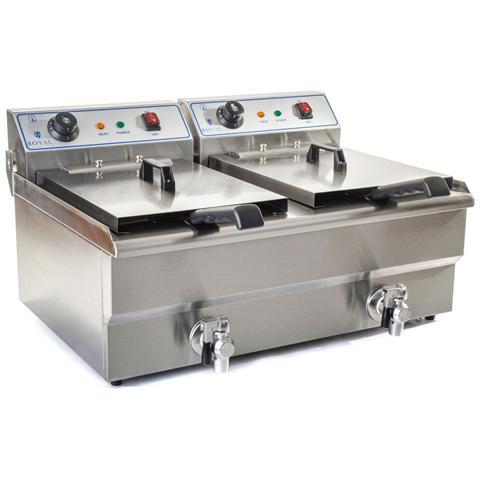 Friggitrice 2 Vascheda 16 Litri - 6000 Watt