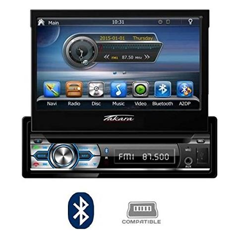 Image of Gpv1827bt 2din Autoradio Dvd Gps Bluetooth Usb - Autoradio Doppio Din