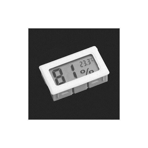 Mini Termometro Igrometro Digitale Temperatura Umidita' Casa Acquario, Colore: Bianco