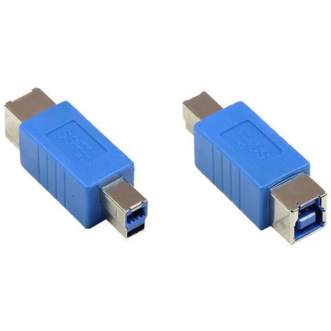 ALCASA USB 3.0 Male / Female, USB 3.0 B, USB 3.0 B, Maschio / femmina, Blu