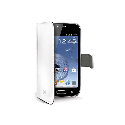 CELLY white pu wallet case galaxy trend