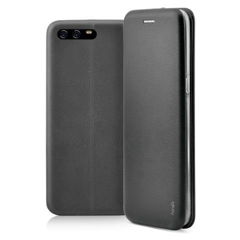 FONEX Flip Cover Custodia a Libro per Huawei P10 colore Nero