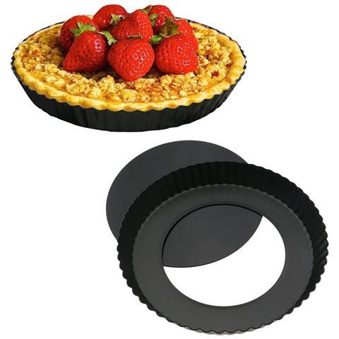 Teglia Tortiera Antiaderente Base Per Torte Crostate Pizze Diametro 28cm