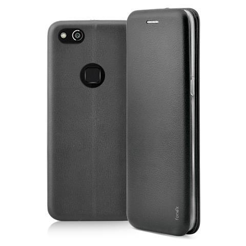 FONEX Flip Cover Custodia a Libro per Huawei P10 Lite colore Nero